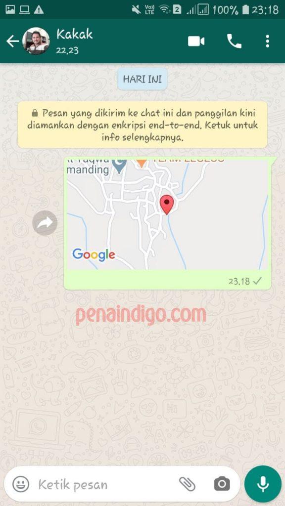 cara kirim lokasi saat ini melalui whatsapp
