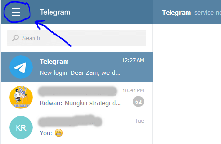 log out telegram web