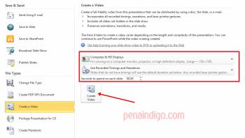 mengubah slide powerpoint menajdi video